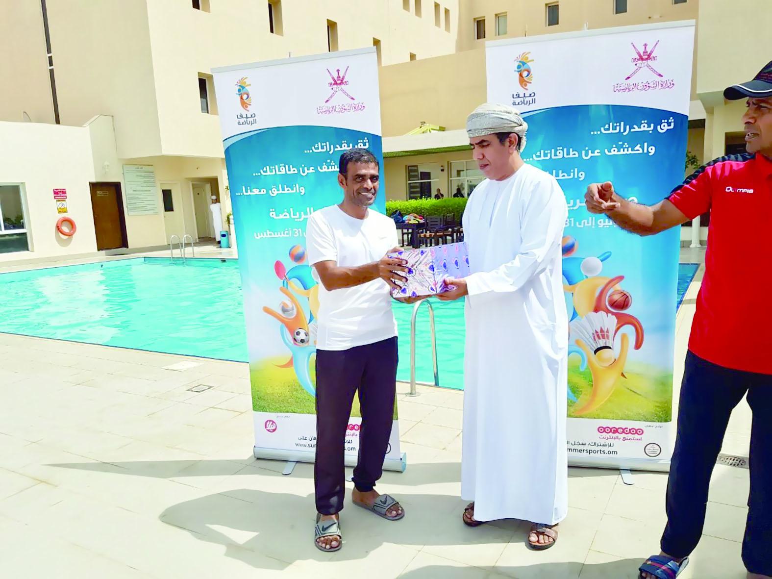 تواصل أنشطة صيف الرياضة في محافظة جنوب الشرقية
