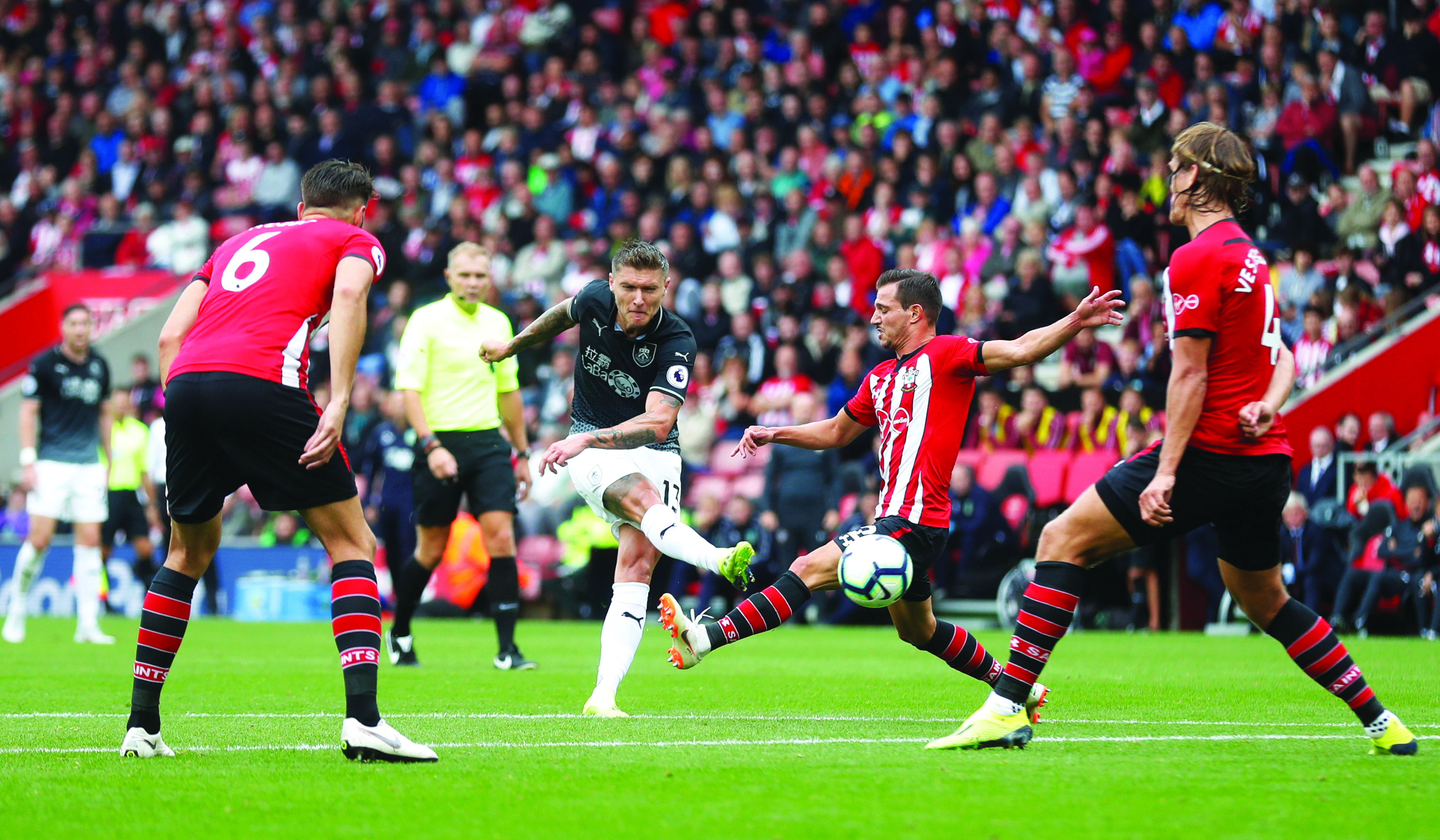 Football: Southampton held to a goalless draw by Burnley