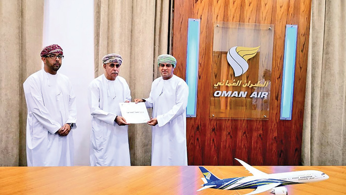 Oman Air lends helping hand to social initiative