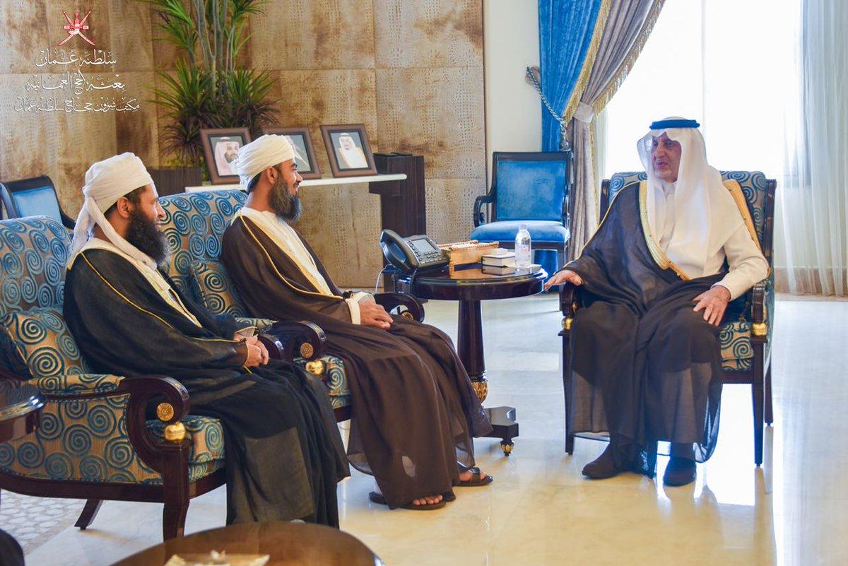 أمير منطقة مكة المكرمة يستقبل رئيس بعثة الحج العمانية