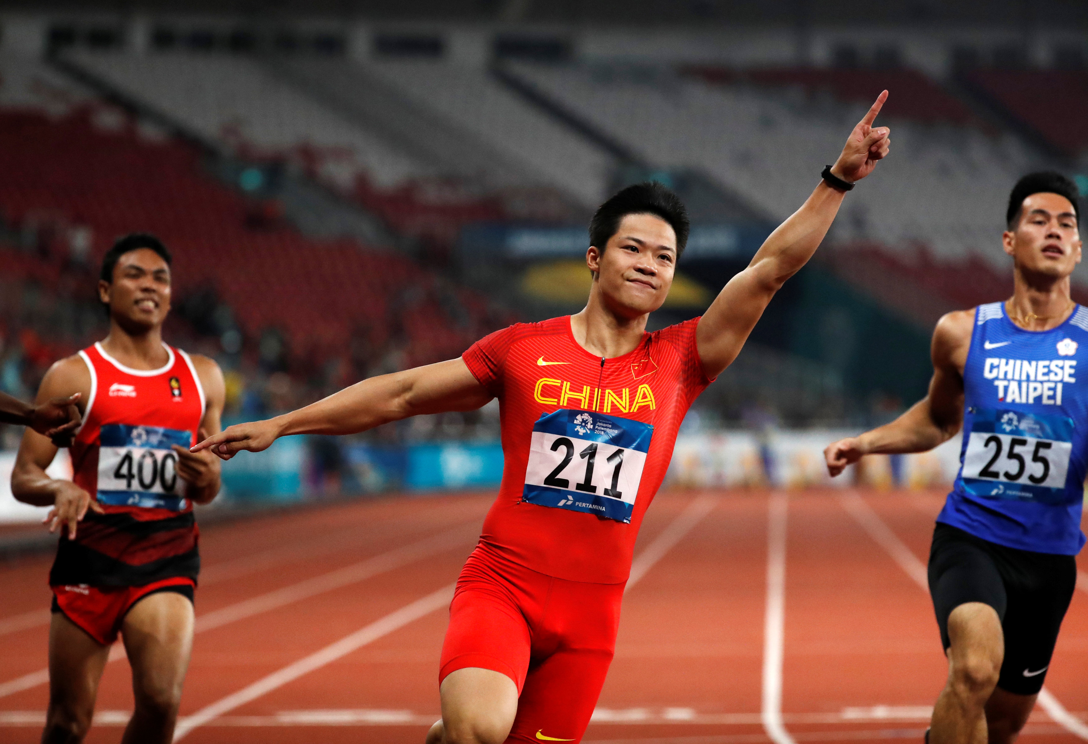 Athletics: China's Su becomes Asia's fastest man in Games record time