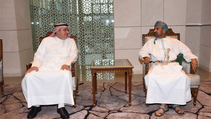 Rear Admiral Khaled Ahmed Abdullah of Kuwait arrives in Oman