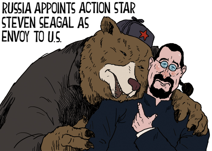 Russia appoints action star Steven Seagal as envoy to US