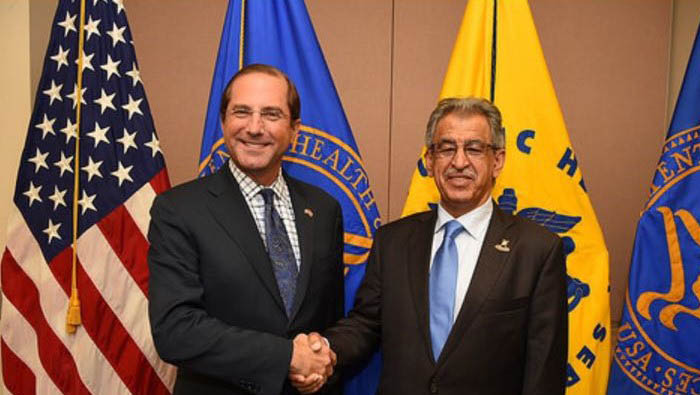 Health Minister meets US counterpart