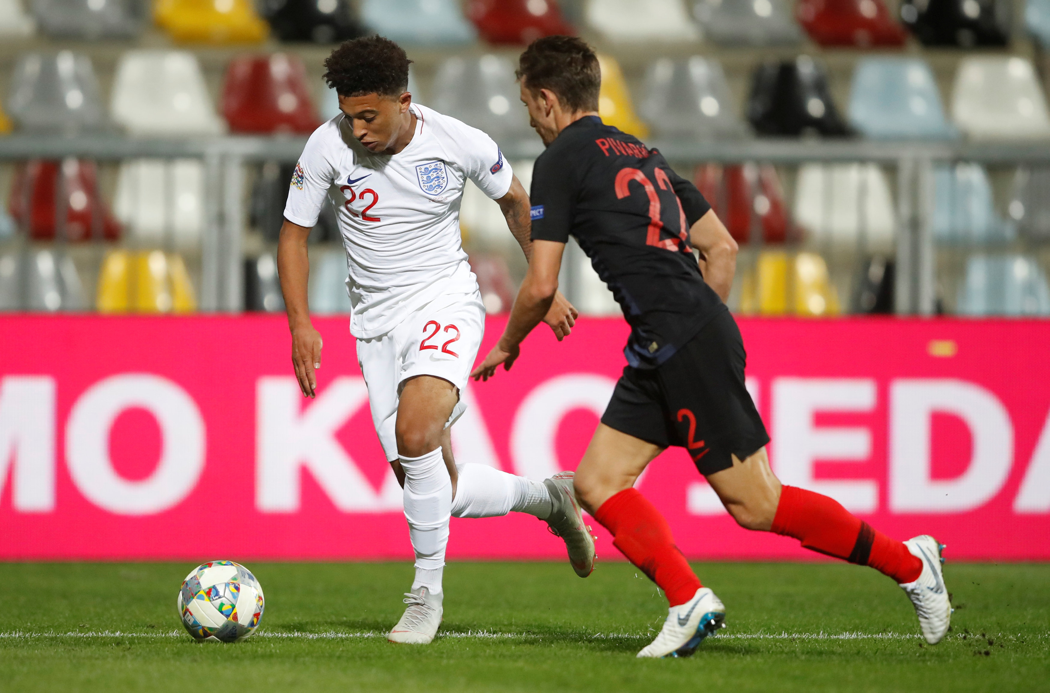 Football: Teenager Sancho impresses England team mates in brief debut
