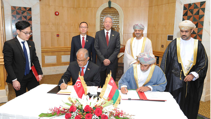 Oman, Singapore sign MoUs on vocational training, climate