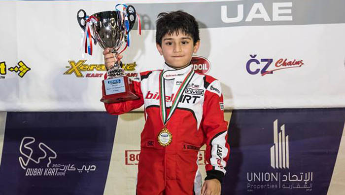 ISG - I student Shonal to take part in UAE Rotax Max Challenge