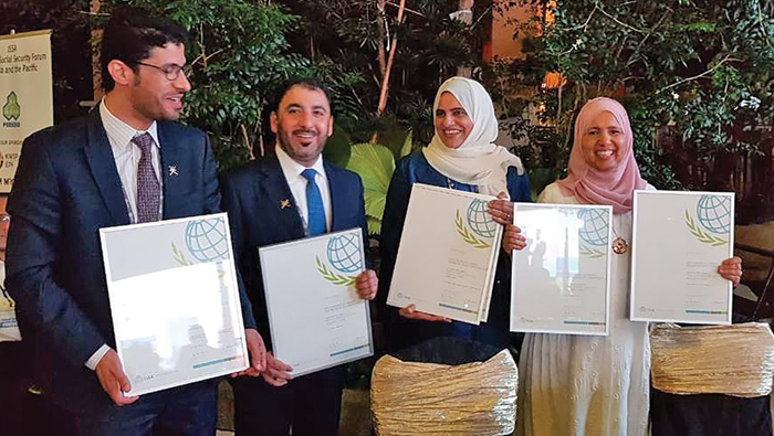 Public Authority for Social Insurance projects bag six certificates