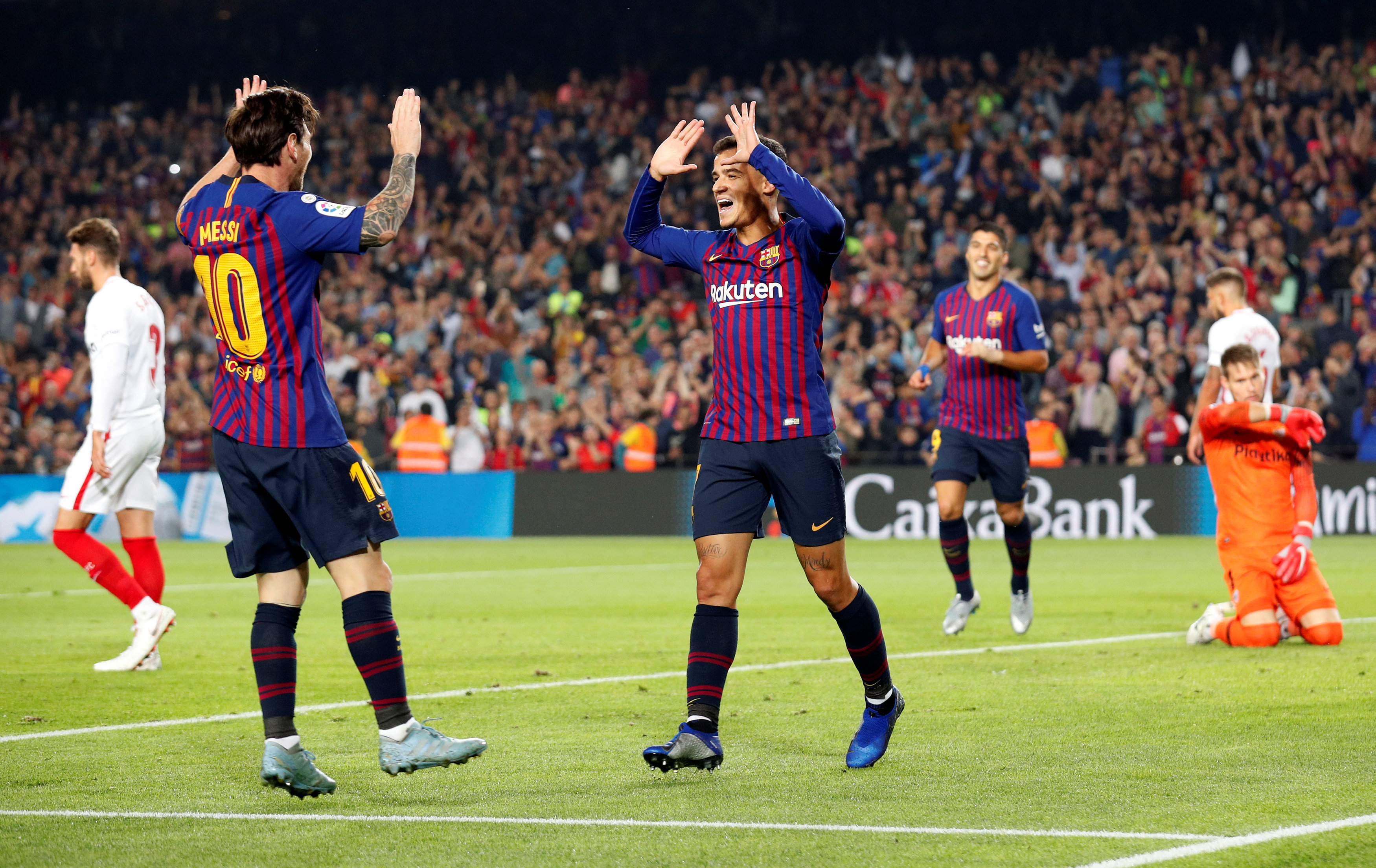 Football: Barca go top with win over Sevilla