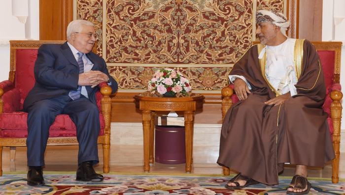 In pictures: Mahmoud Abbas arrives in Oman