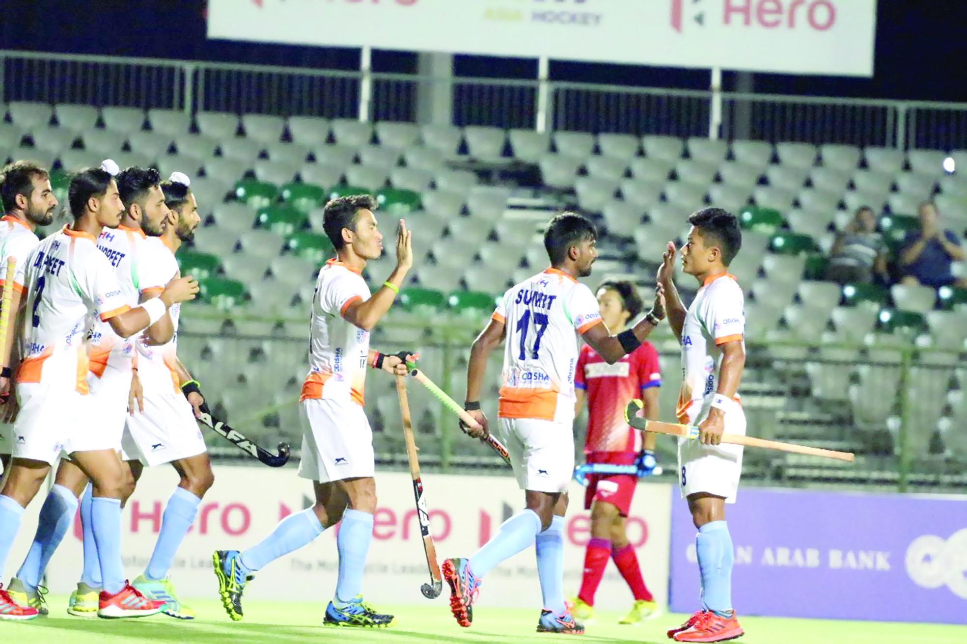 في رابع لقاءاته منتخبنا الوطني يواجه كوريا الجنوبية في بطولة كأس أبطال النخبة الآسيويةالمنتخب الهندي يمسك بالصدارة ويتغلب على بطل الألعاب الآسيوية بالتسعة