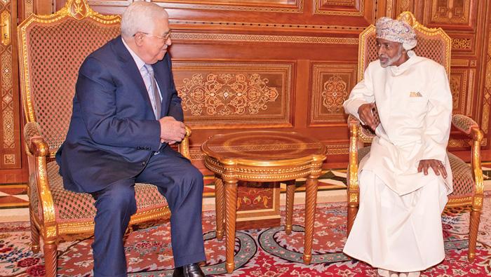 His Majesty receives Palestinian President Abbas