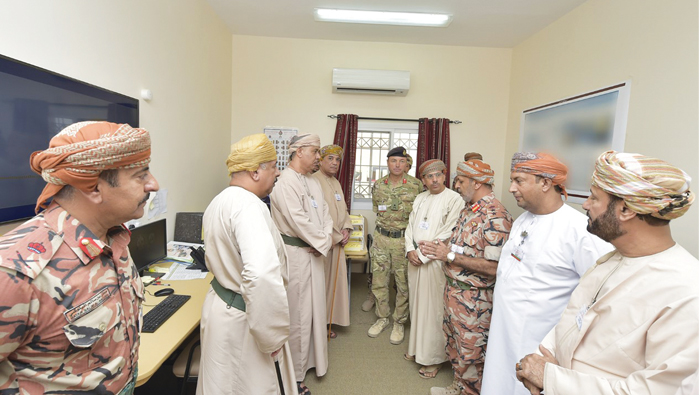 Minister, members of State Council visit military command centre