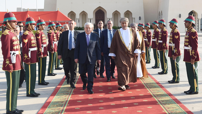 President Mahmoud Abbas leaves Oman after three-day visit