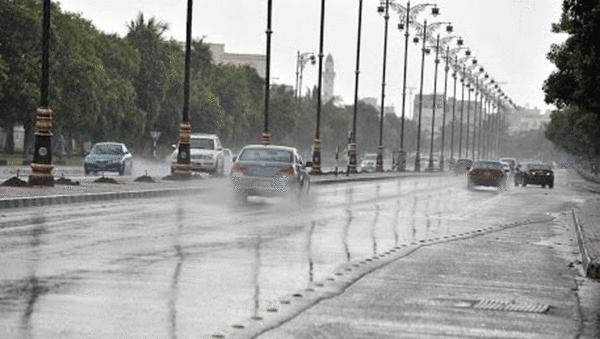 فرص  لهطول أمطار رعدية مصحوبة برياح  وحبات البرد