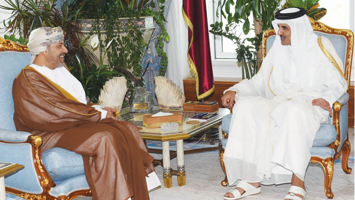His Majesty's greetings conveyed to Sheikh Tamim