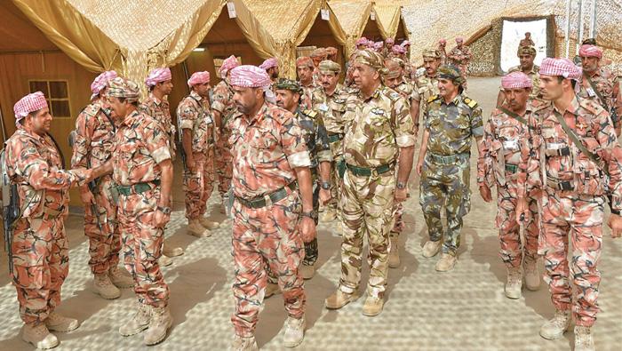 Al Nabhani reviews military drill preparations