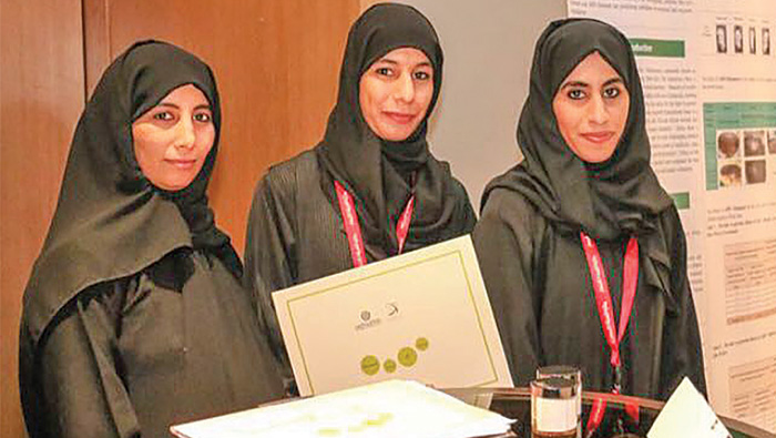 Omani girls develop remedy for hair loss