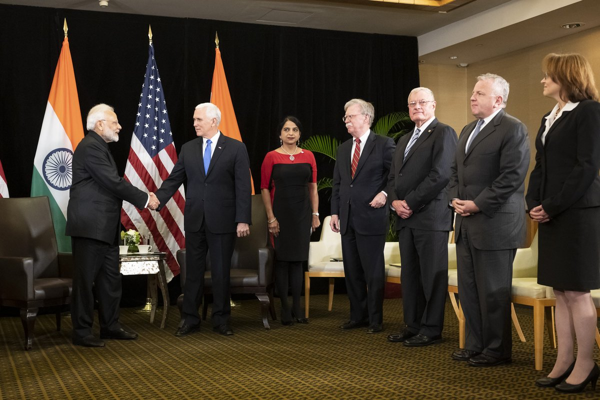 India's Modi discusses growing US ties with US vice-president Mike Pence
