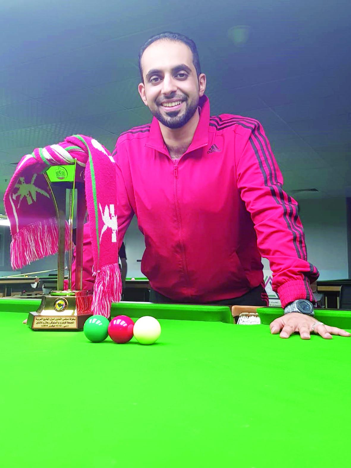 عمانتل تحتفي بأحد موظفيها لفوزه ببرونزية السنوكر الخليجي