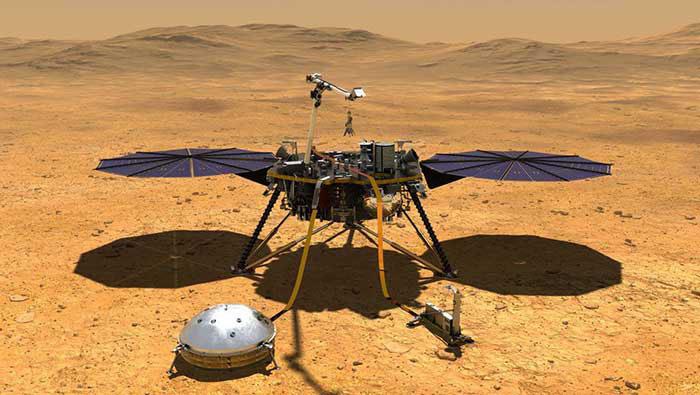 NASA's Martian quake sensor InSight lands at slight angle