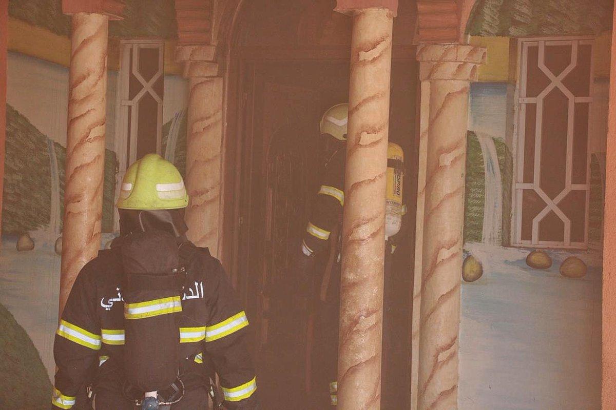إصابة مواطنة في حريق بصحار