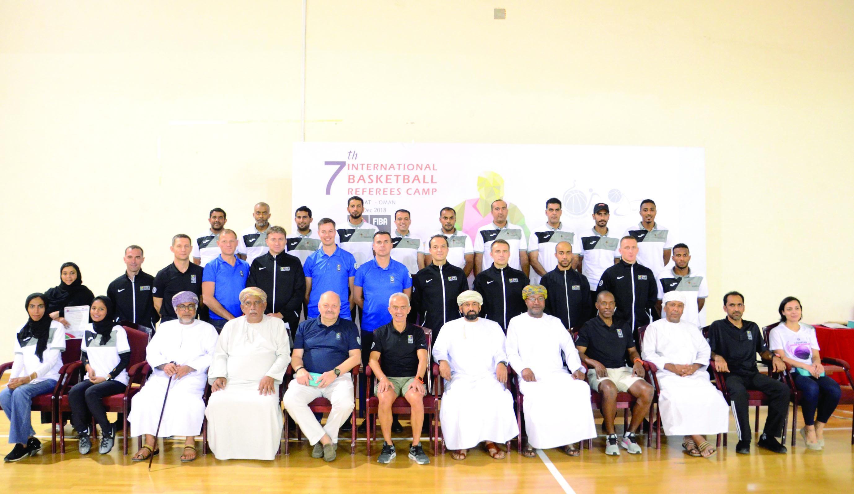 ختام أعمال المعسكر الدولي السابع لحكام كرة السلة