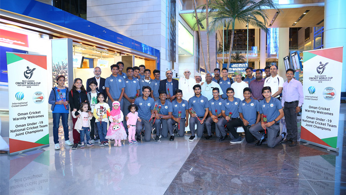 Oman Under-19 team arrived to a hero's welcome
