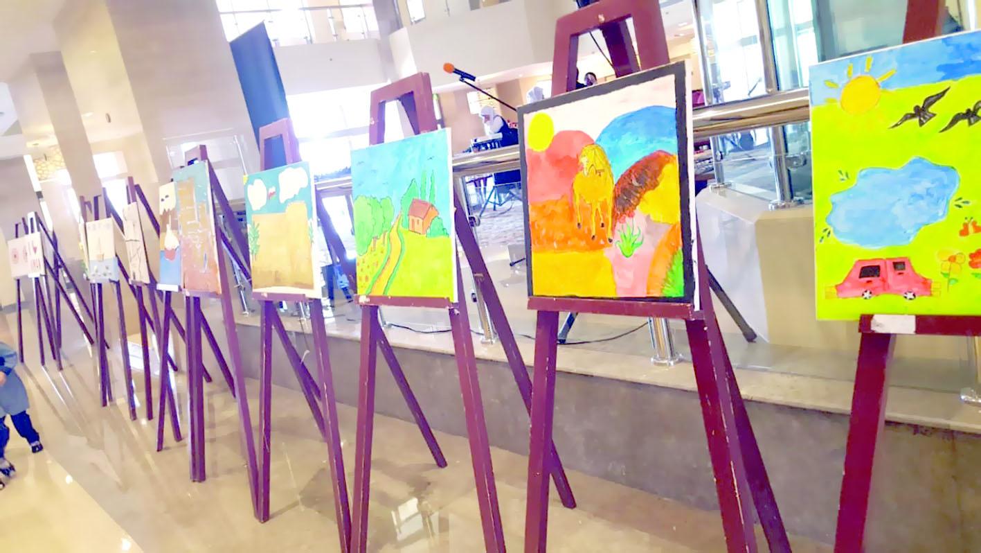 افتتاح المعرض الفني لذوي الإعاقة بصحار