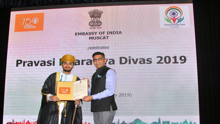Indian embassy honours Omani singer