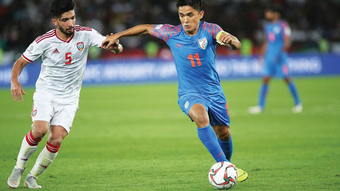 On the ball: 'I always wanted to be like my father', says Sunil Chhetri