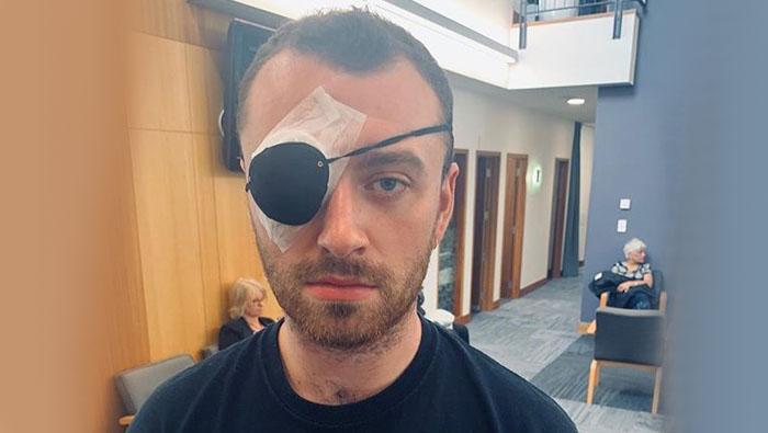 'Stye with me': Sam Smith has eye surgery in New Zealand
