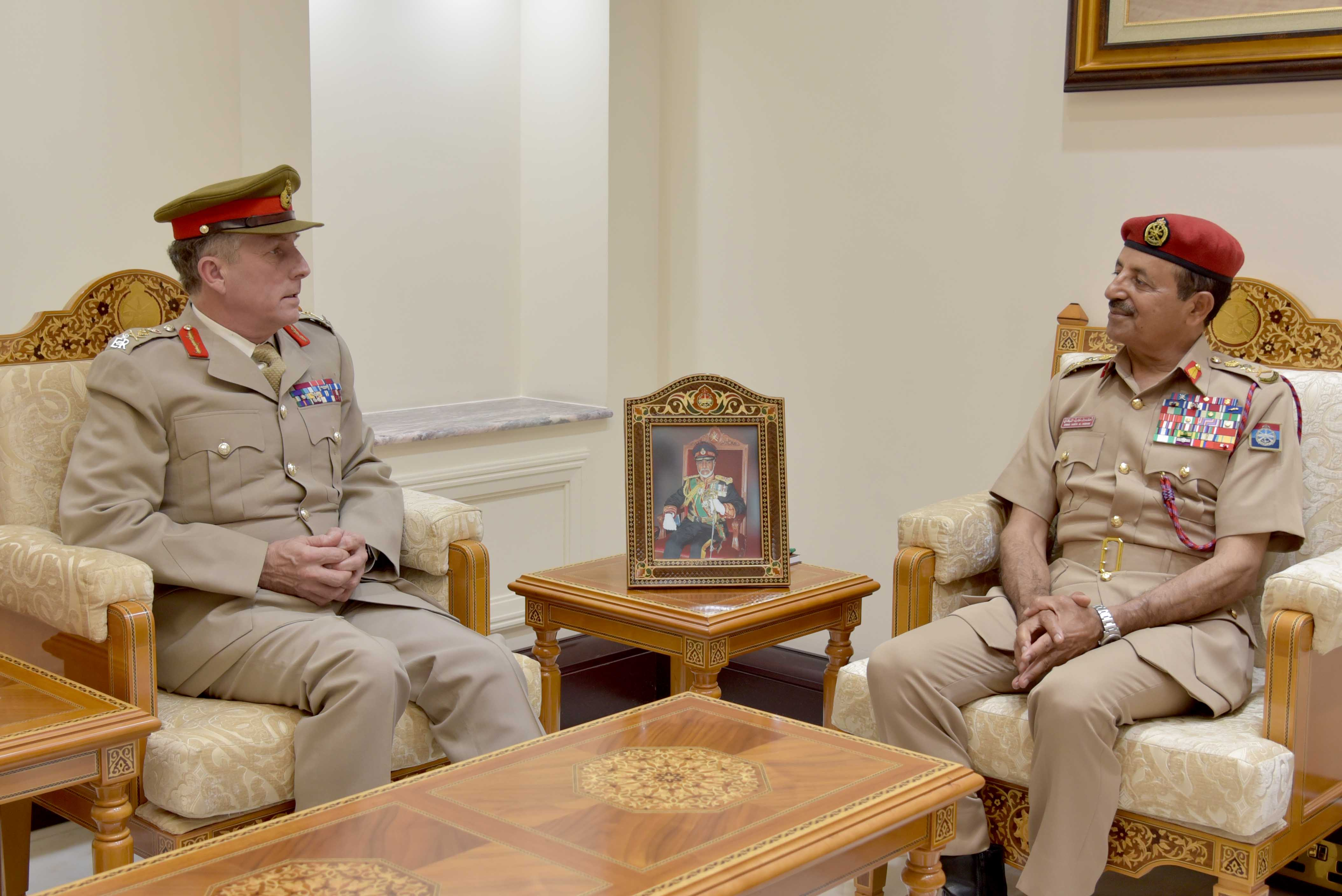 Royal Office Minister, Defence Minister hold talks with UK Chief of the Defence Staff