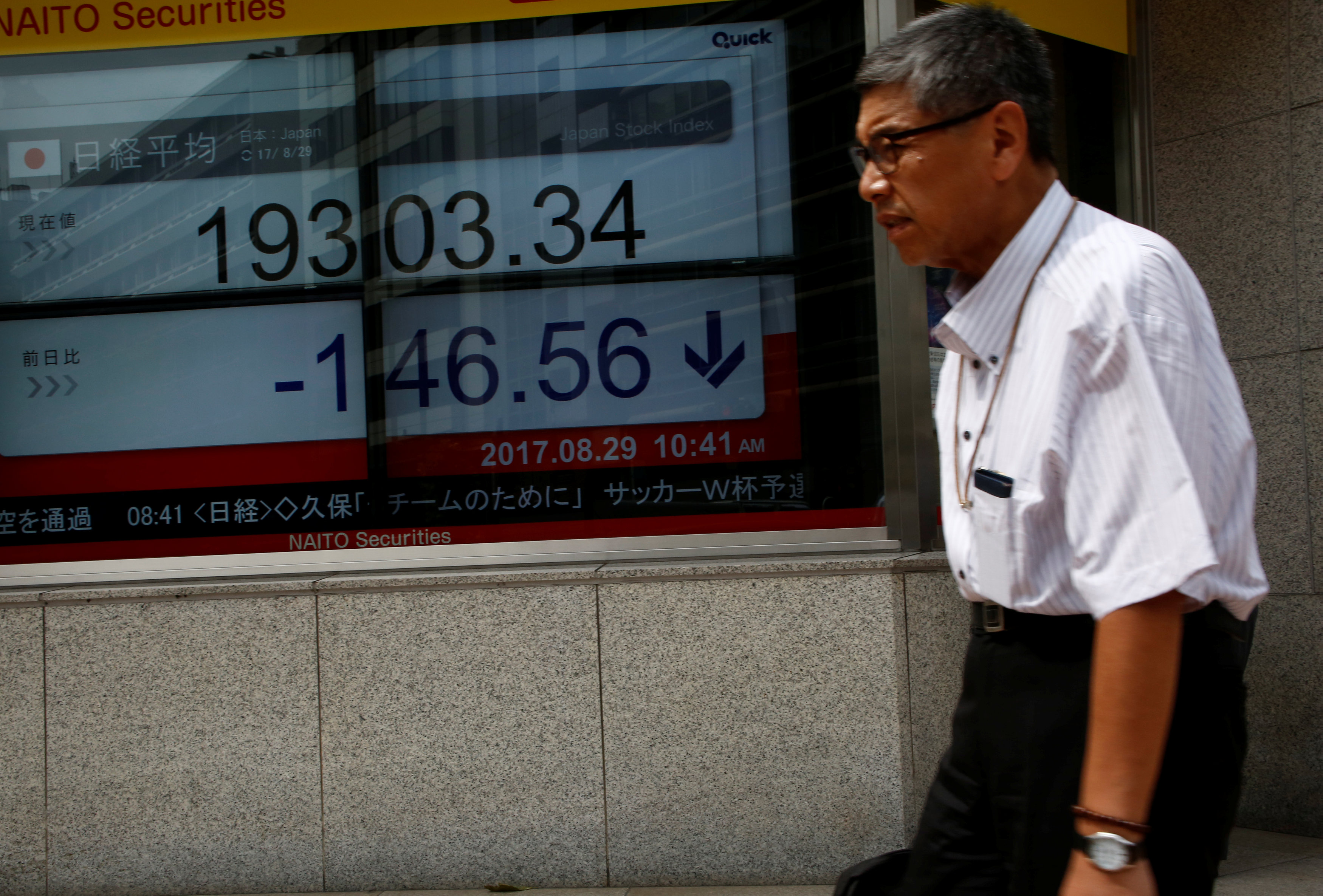 Asian markets turn lower as trade worries seep back