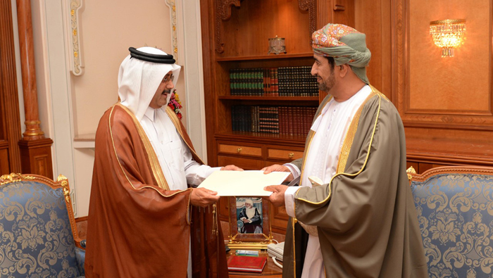 His Majesty receives message from Emir of Qatar