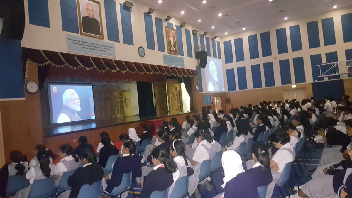 Indian students in Oman watch PM Modi's school outreach live