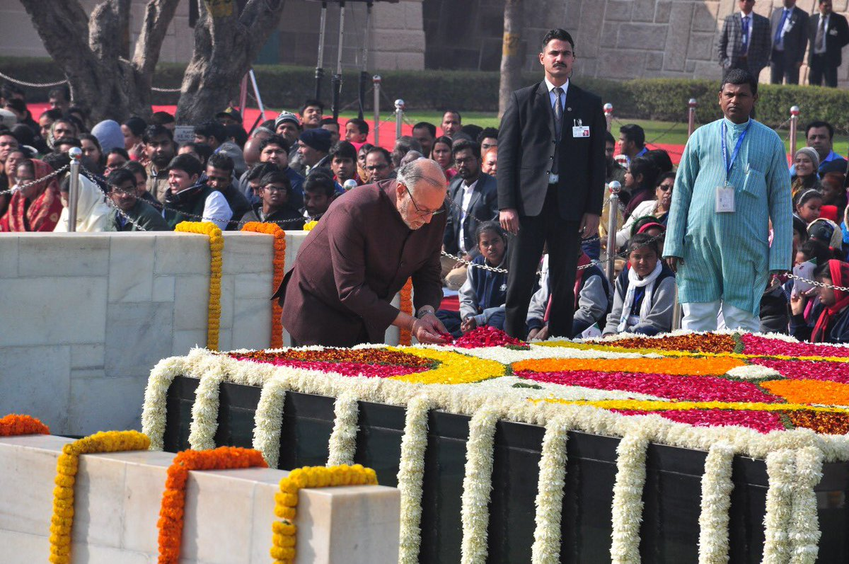 Indian leaders pay tribute to Gandhi on Martyrs' Day