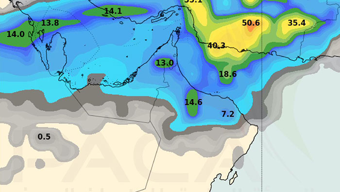 Low pressure weather system to bring rains across Oman