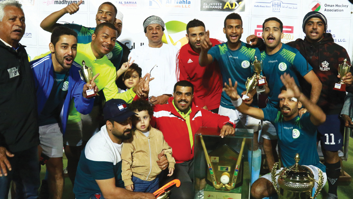Al Ahli Sidab Club lift trophy