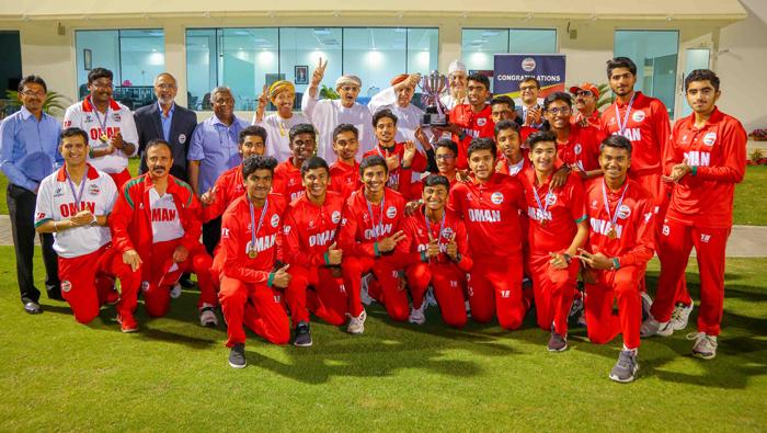 Oman Under-19 cricket team honoured