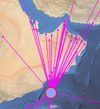 زلزال بقوة 4.5 بمقياس ريختر في بحر العرب
