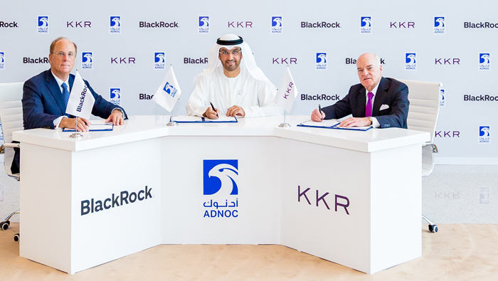 Adnoc inks investment pact with BlackRock and KKR