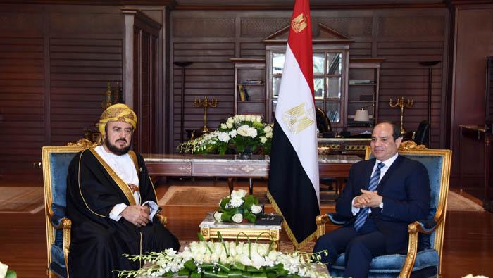 Egyptian president Sisi receives Sayyid Asa'ad ahead of Arab European Summit