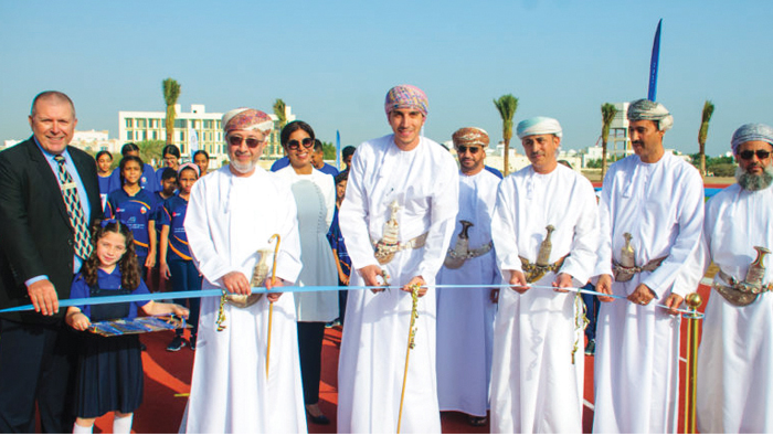 Sayyid Kamil opens athletics track at The Sultan's School