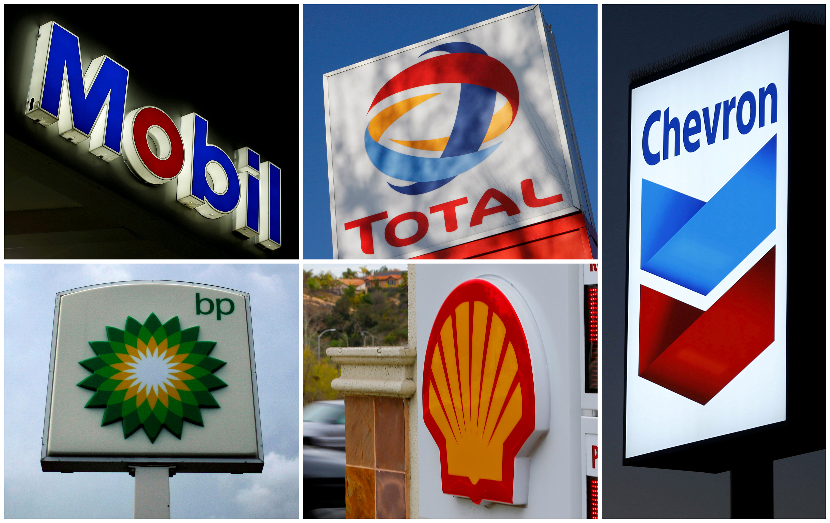 US oil giants report strong annual profits