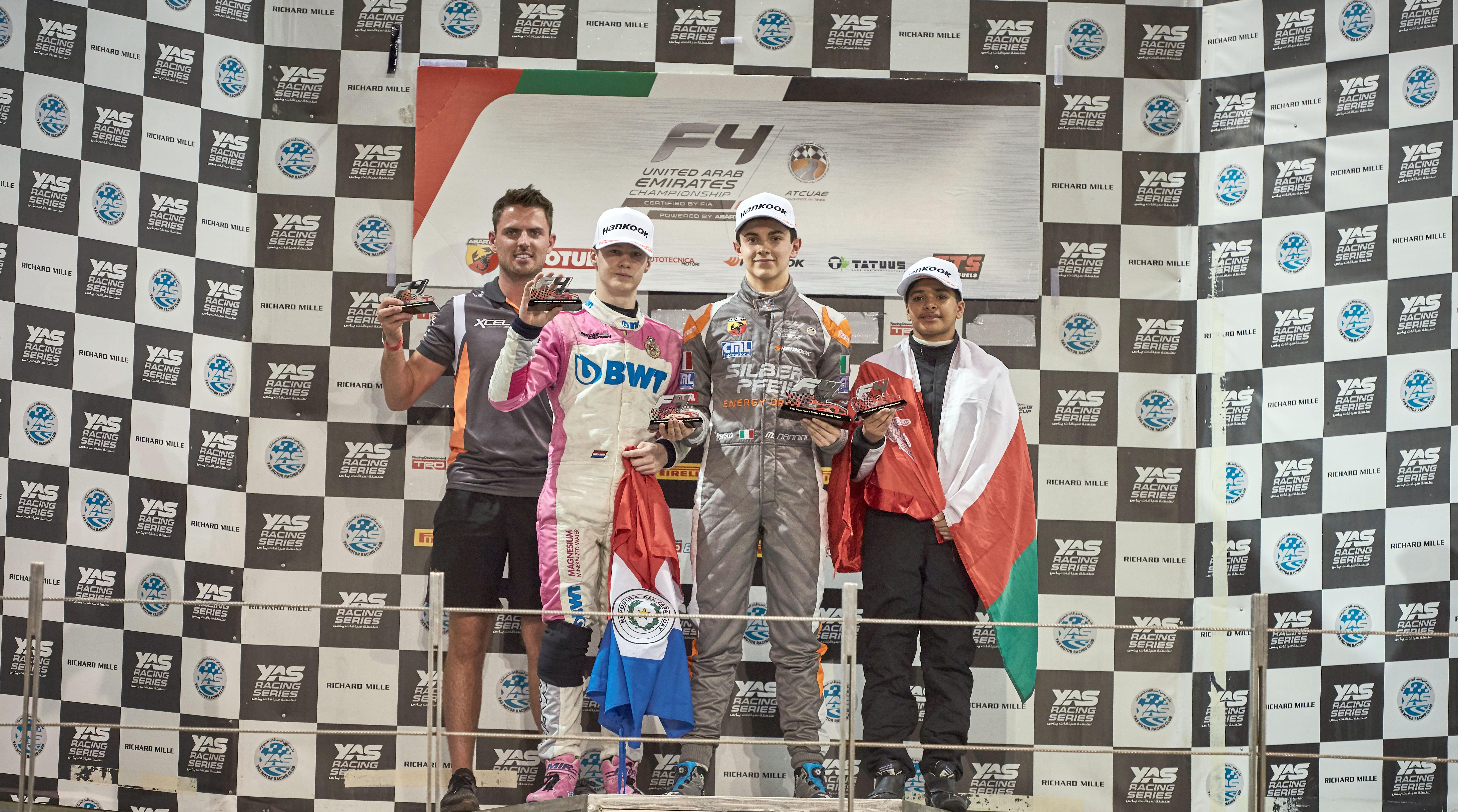 الحبسي وصيفًا في الجولة الثانية لبطولة الإمارات للفورمولا 4