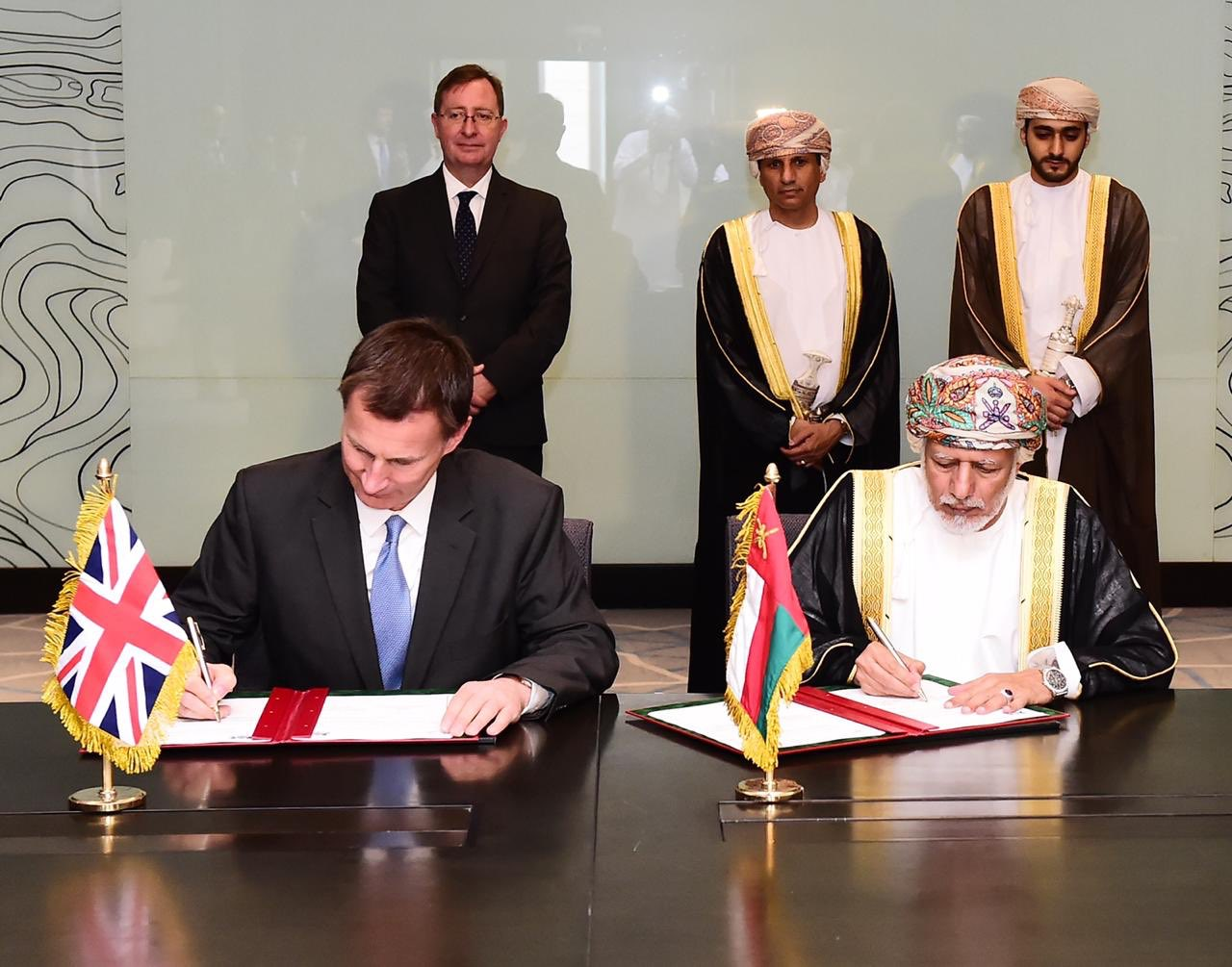Joint long-standing friendship declaration signed between Oman and UK