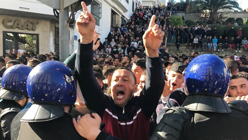 Violent protests in Algeria against president's fifth term bid