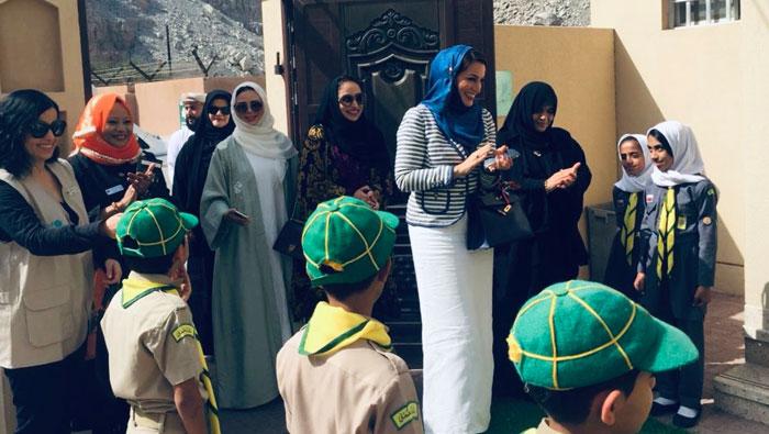 UNICEF Oman travel to remote village to meet schoolchildren