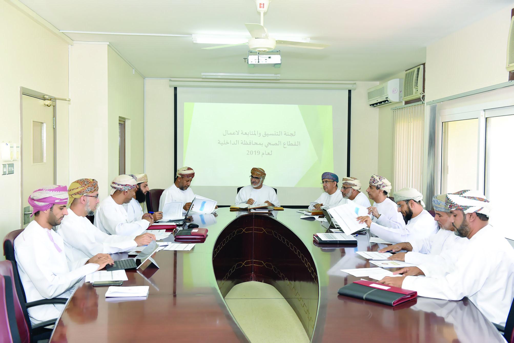 لجنة متابعة الخدمات الصحية بالداخلية تناقش التحديات والمعوقات